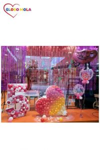 escaparate san valentin globos